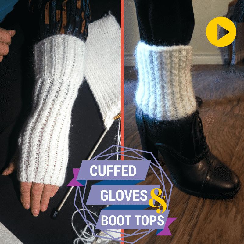 Cuffed Fingerless Gloves and Boot Cuffs