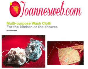 Knitted Wash Cloth PDF