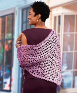 Lacy Isosceles Crochet Scarf